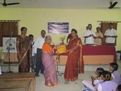 Mrs.Chitra Sampathkumar, Thambu Hr.Sec.School, coimbatore has been honoured with LATE SHRI.G.BHUJANGA RAO I.A.S., AWARD on 26.11.2011 in recognisaion of her Educational service.